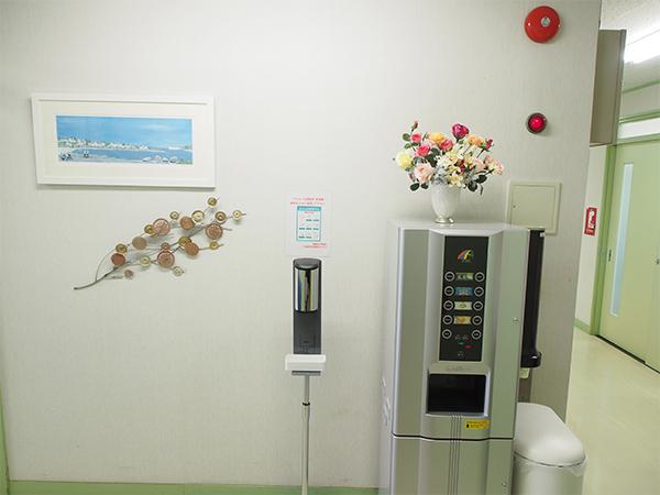 【画像】待合室前ドリンクサービス